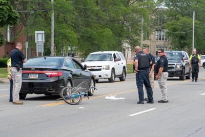 Bicyclist struck by car