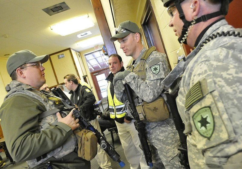 Falls high school serves as backdrop for active shooter drill