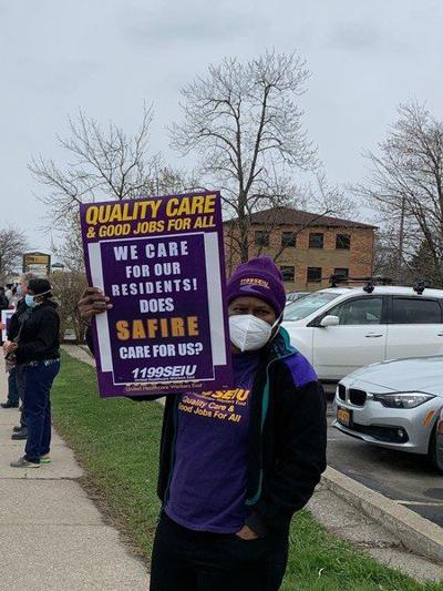 Home care workers protest lack of PPE
