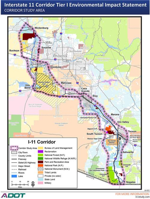 Meeting Planned In Nogales To Present I 11 Corridor Alternatives