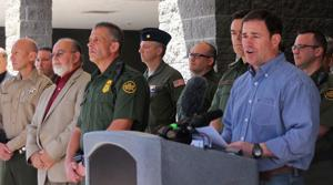 Ducey praises deployment, sidesteps concerns