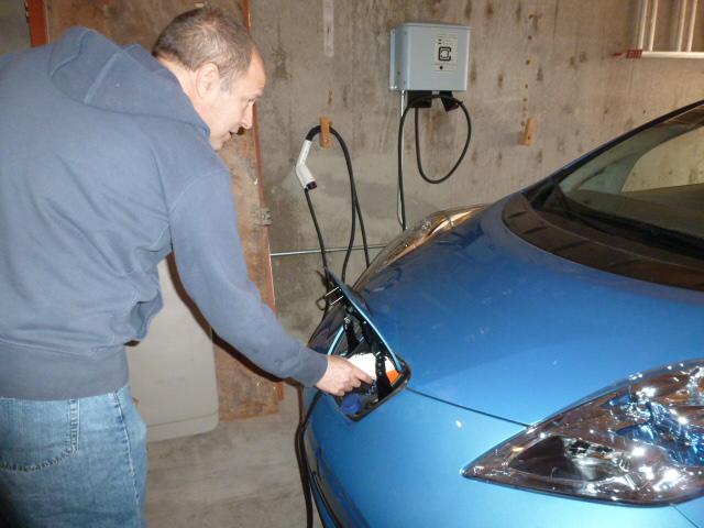 Josh Landess plugs in a cord