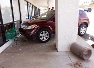 Medical episode prompts car crash at shopping center