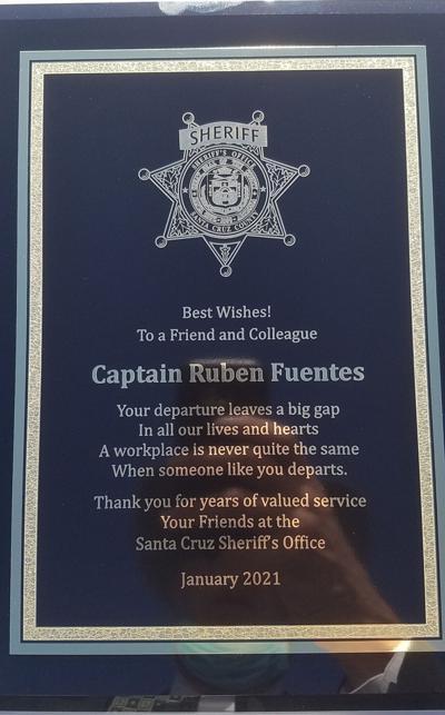 Ruben Fuentes plaque