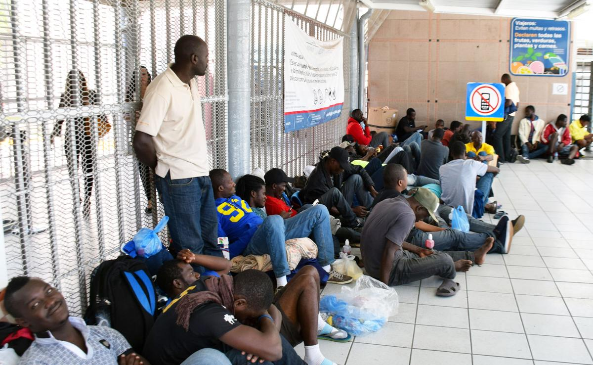haitian migrants arrive in nogales sonora after months