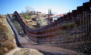 Concertina wire on border fence has injured at least one person