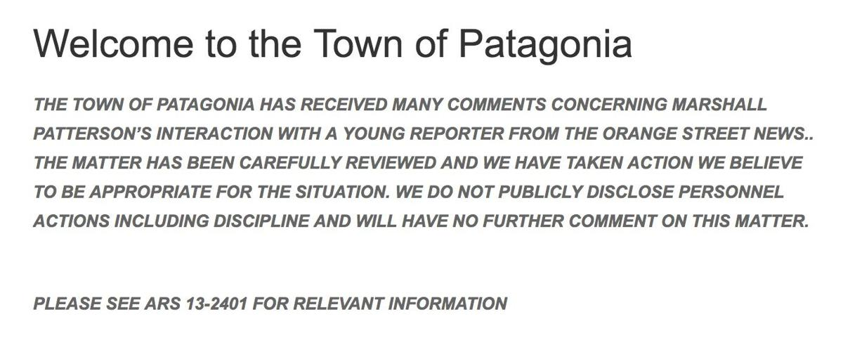 Patterson town message