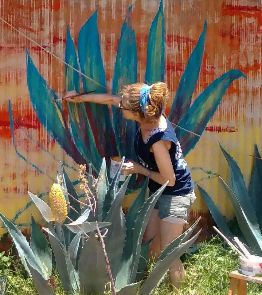 Mariluz Burr - home mural