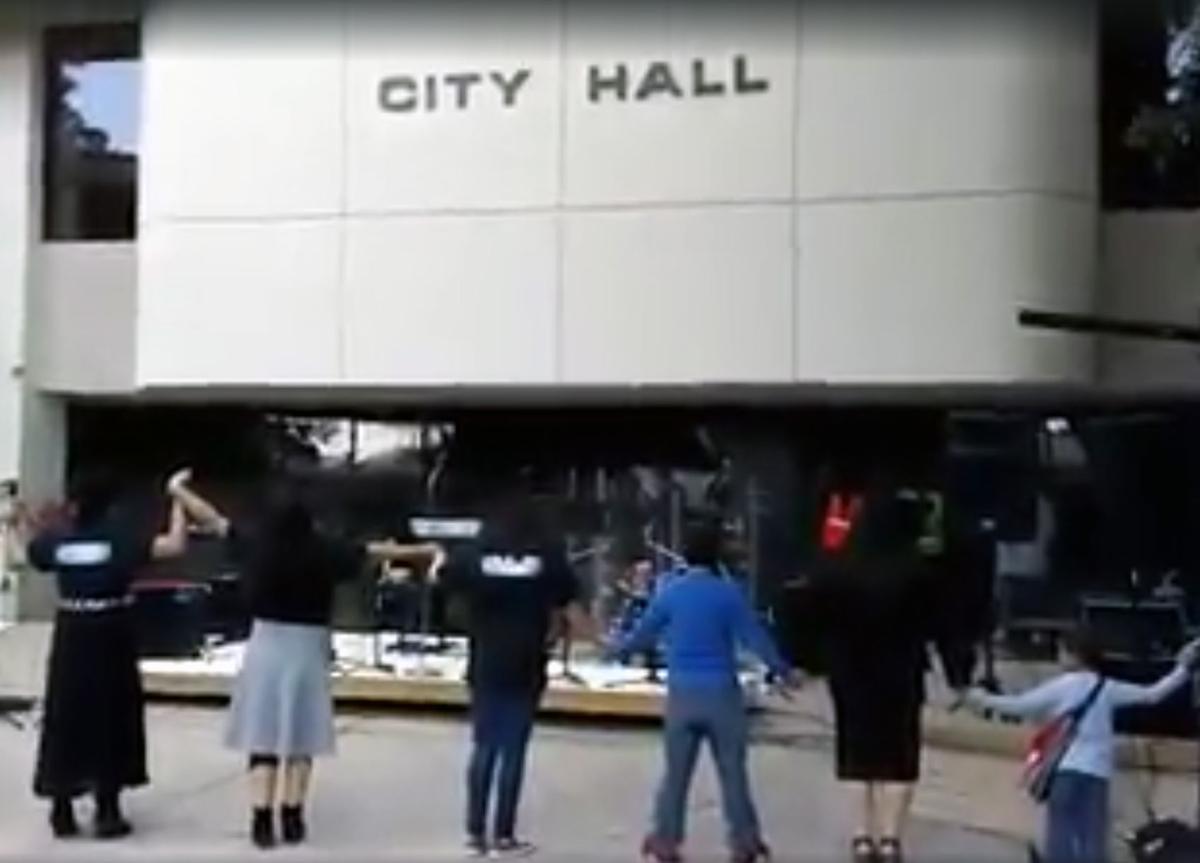 Prayer Rally at City Hall