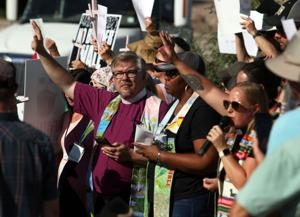 Faith leaders protest at Nogales Border Patrol Station