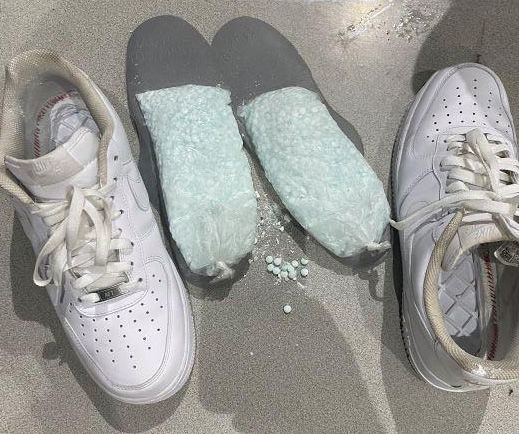 Pills in shoes