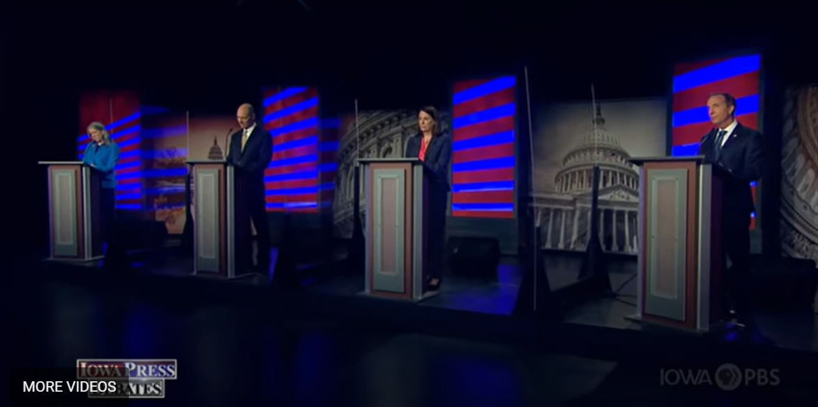 Dem debate screenshot