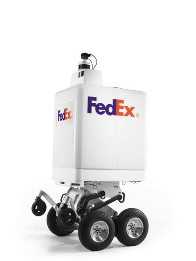 Stair-climbing robot is hitting streets in FedEx delivery test