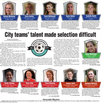 All-City Girls Soccer Team