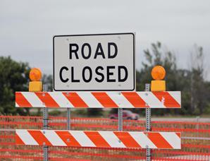 Road closed graphic