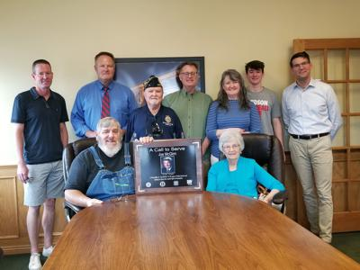 VFW plaque presentation