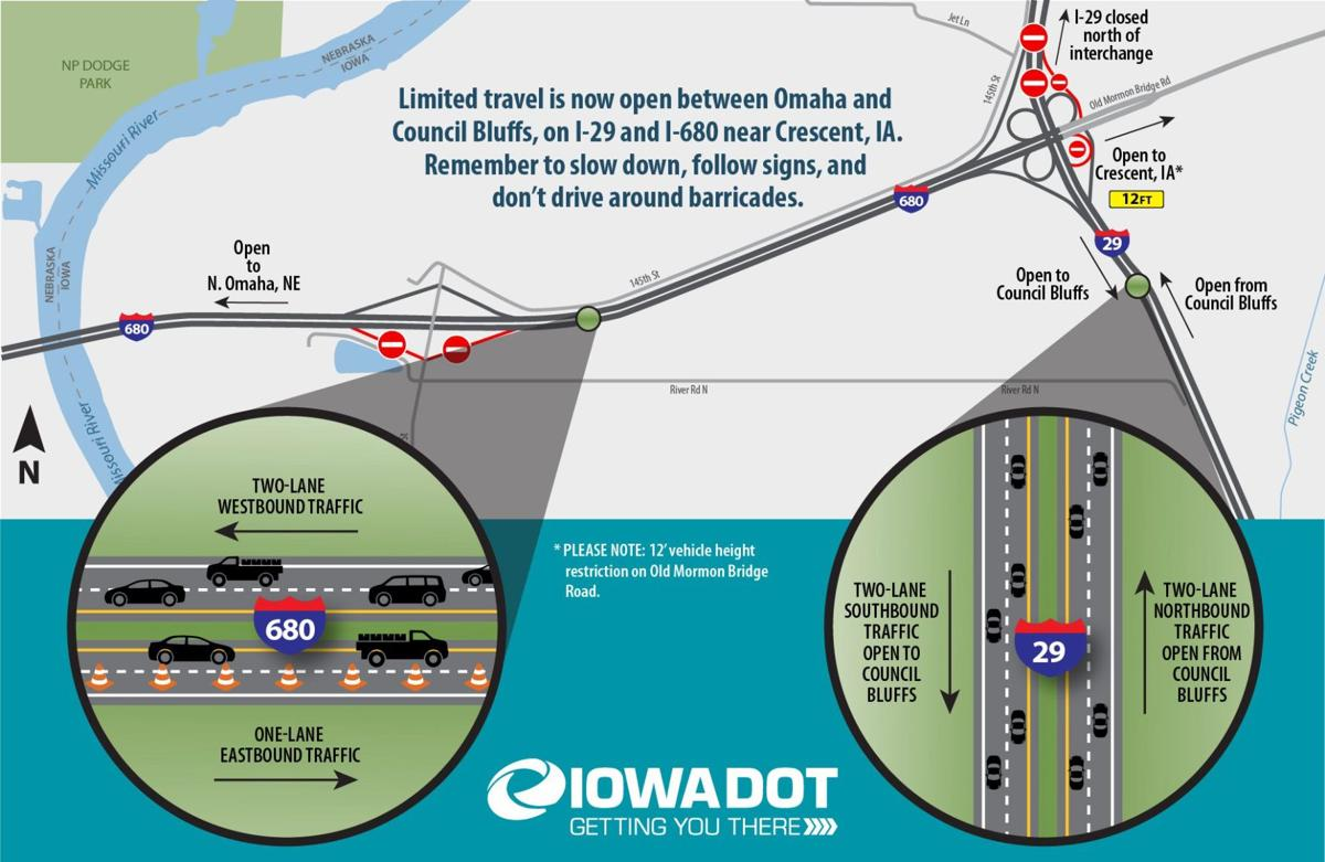 Interstates 680 and 29 near Council Bluffs re-opening after