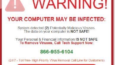 Scam alert: Don't fall for a virus warning pop up after your