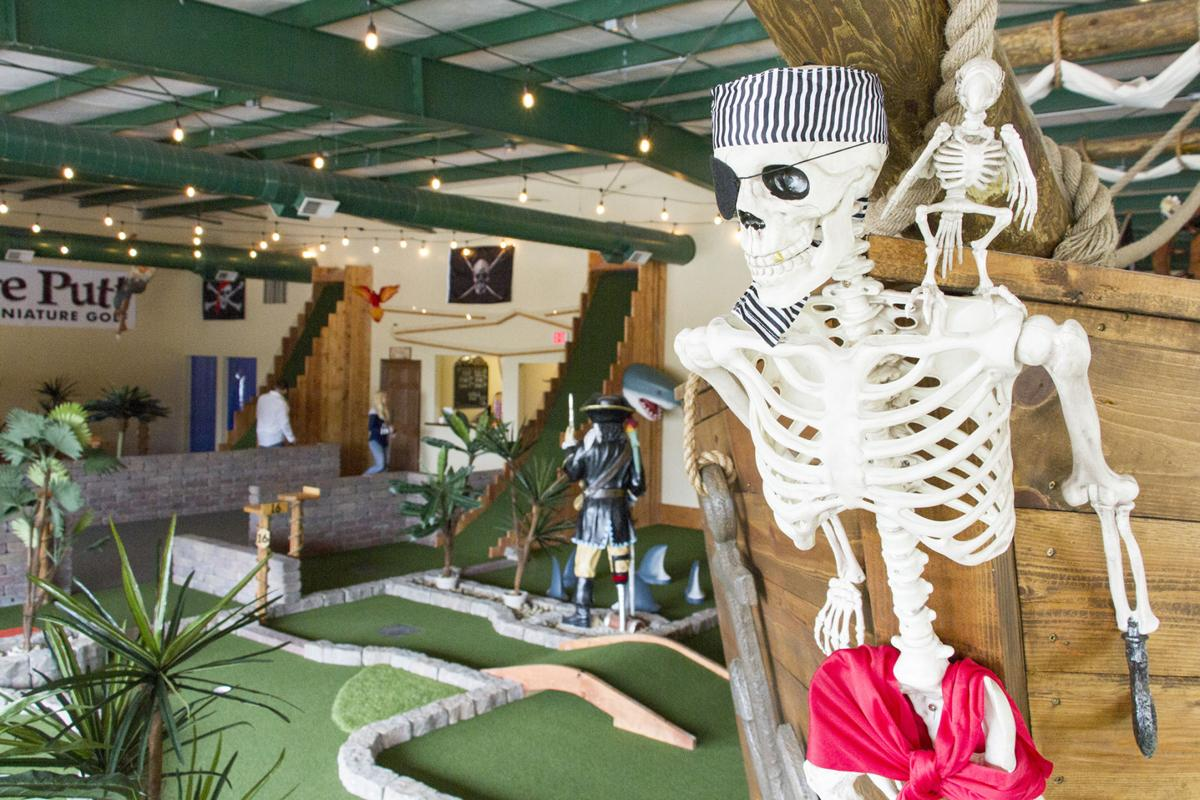 New pirate-themed mini golf course a good place to avoid shivering on