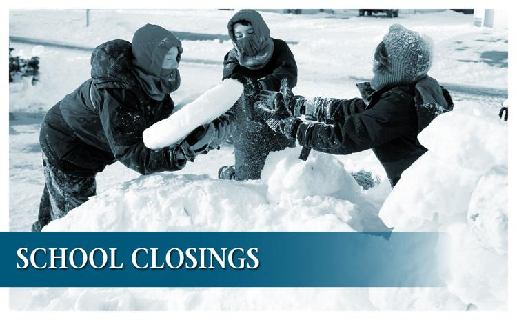 School closings and weather-related announcements for Friday, Jan. 17, 2019