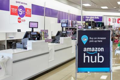 Amazon Hub Counter Pickup Sign in Gordmans