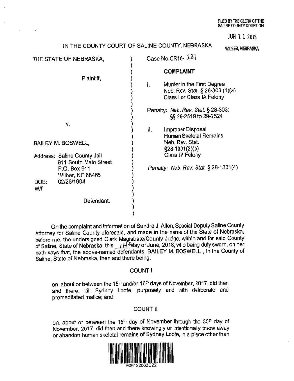 Bailey Boswell/Aubrey Trail court documents | | nonpareilonline com