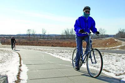 Participants hit trails for Winterfest ride