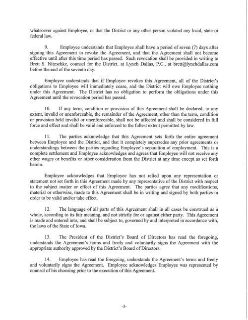 Treynor Separation Agreement Page 3 Nonpareilonline