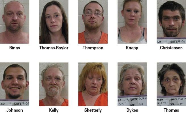 Montgomery County authorities arrest 10 in Monday drug bust