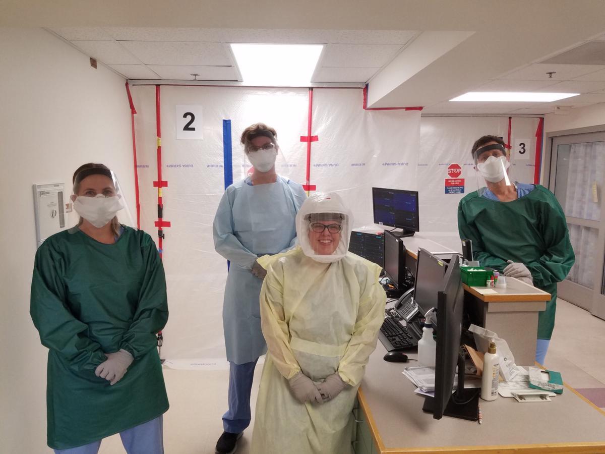 Tiffanie Greenwood RN, Miles Thomas NMC student, Kelcie Jensen RN and Eric Sandbothe RN.jpg