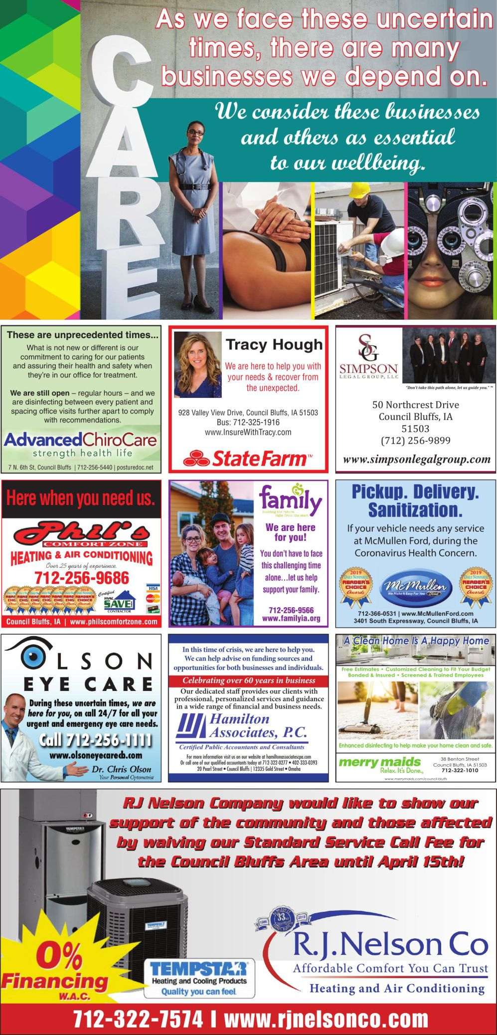 Essential Business and Care Directory Page 1