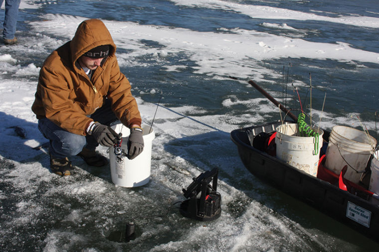 Ice fishing event at big lake attracts iowa youths local for Ice fishing iowa