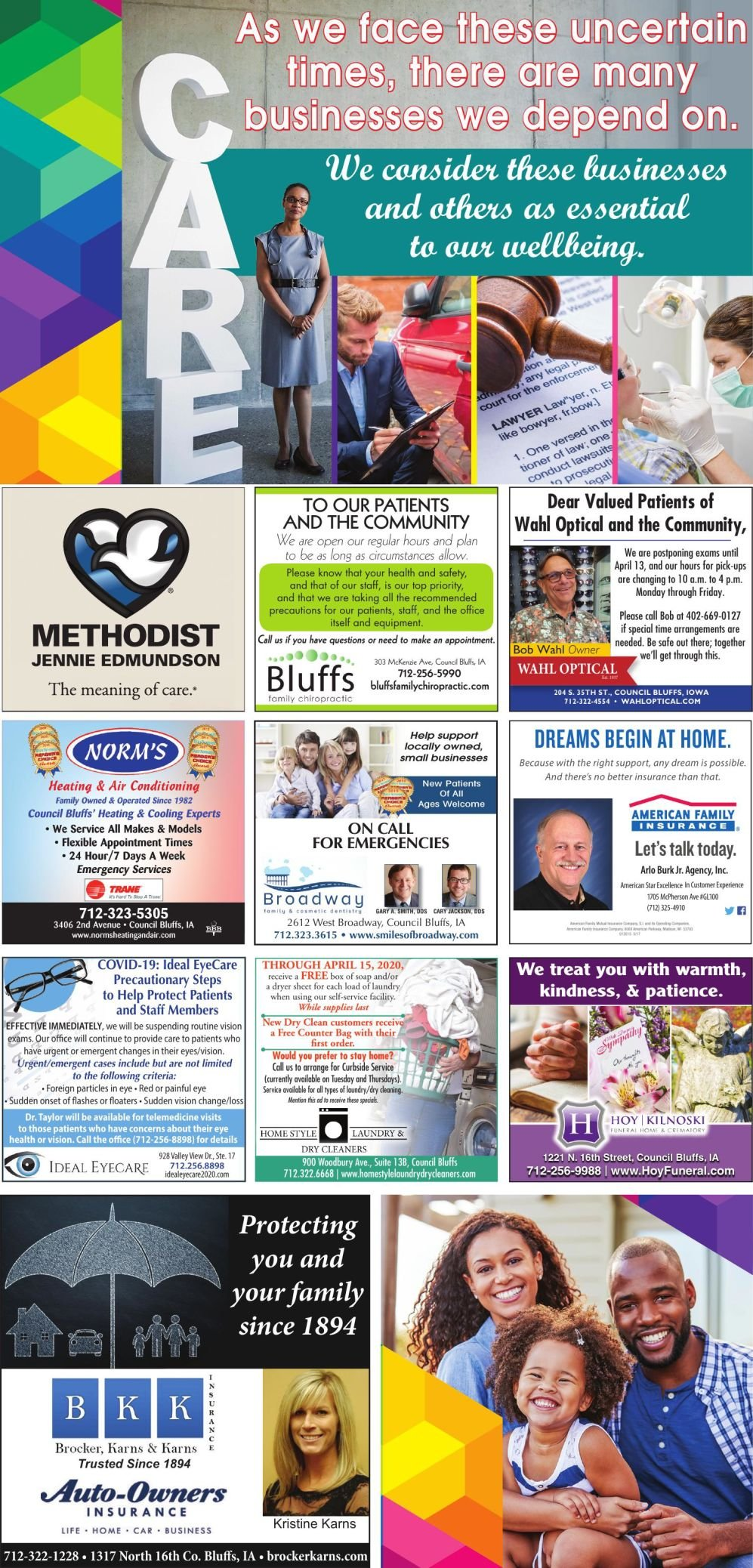 Essential Business and Care Directory Page 2