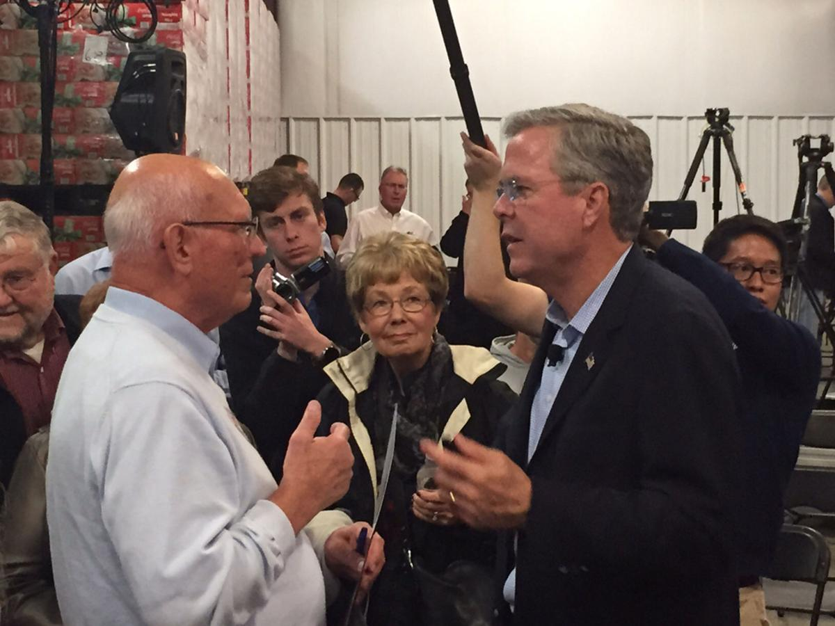 bush townhall meeting He will enjoy a town hall two-fer along with john kasich and jeb bush, trump is scheduled to appear at a thursday night cnn town hall event.
