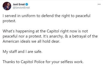 Ernst tweet