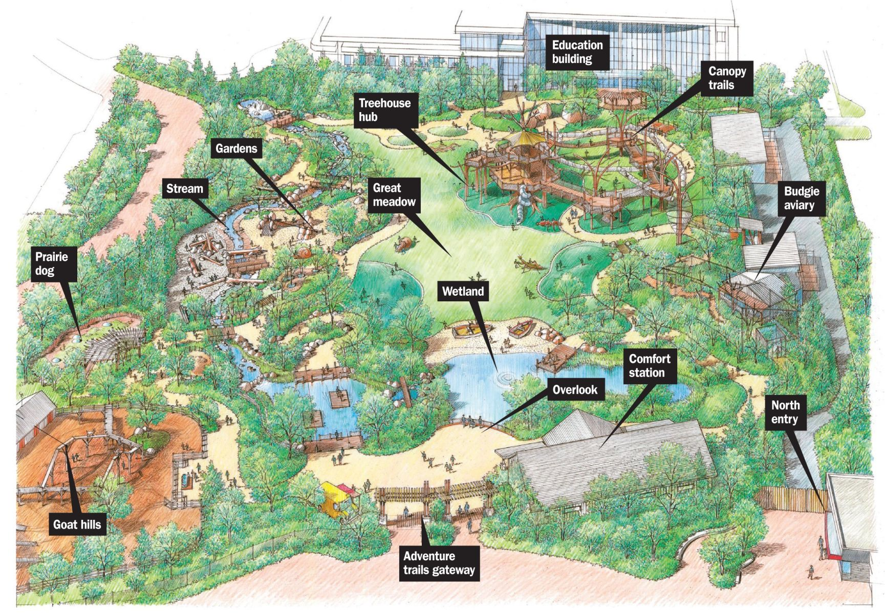 Opening Friday at the Omaha zoo Childrens Adventure Trails where