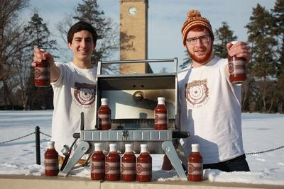 College kids' DeadEye Barbecue Sauce prepared, bottled in Shen