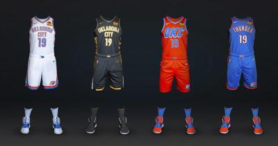 the latest 1400c fc97c OKC Thunder: New uniforms include one tied to Murrah ...