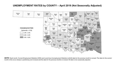 Going low: unemployment numbers in Cleveland County best state, national average