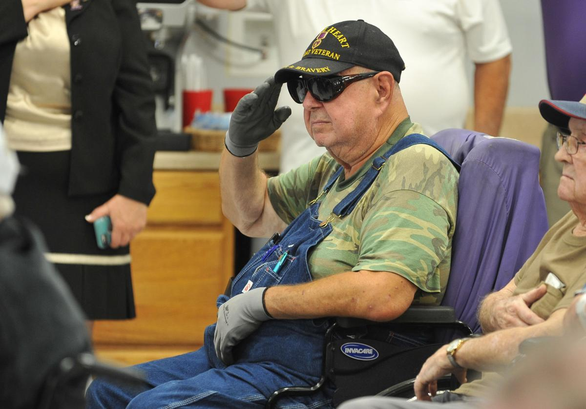 National Purple Heart Day ceremony
