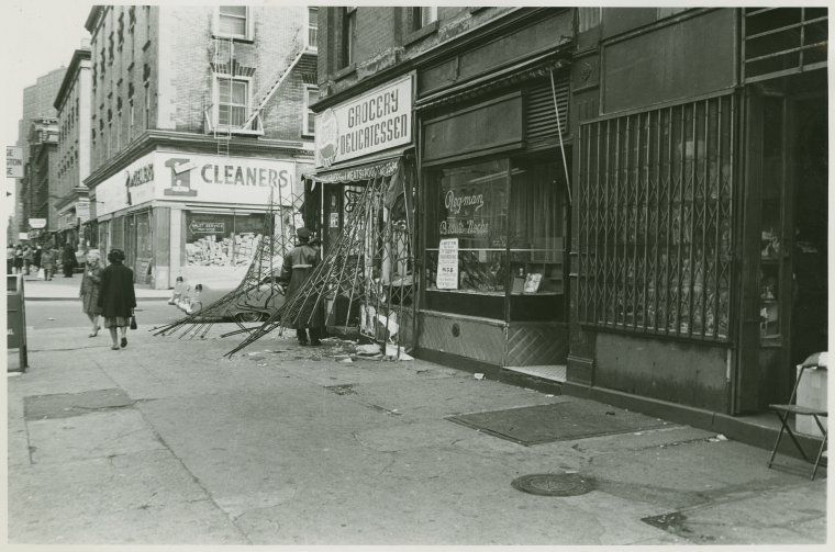 Damages to Harlem businesses after riots following King's death