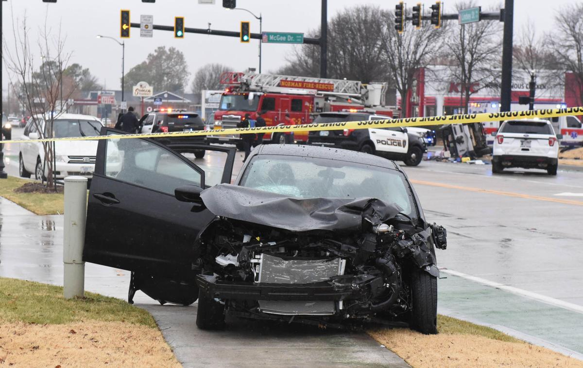 Norman police arrest three after reported robbery, crash