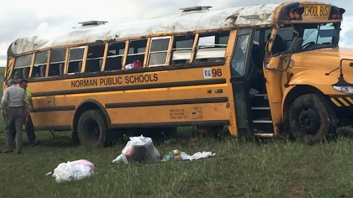 Multiple injuries reported after Norman school bus rolls over in ...