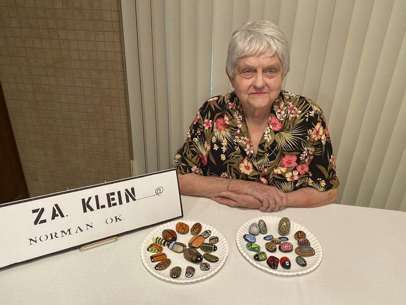 Norman artist cheering residents by placing painted rocks in yards