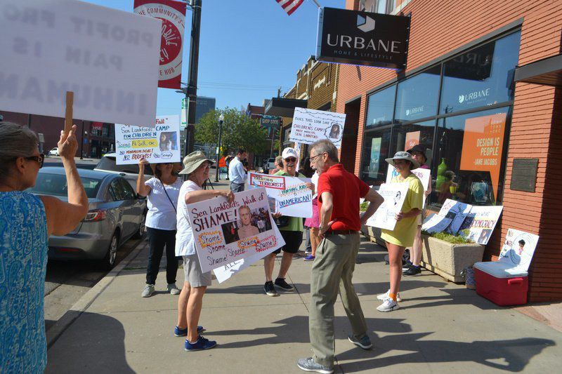Women In Action rallies at Sen  Lankford's office, requests