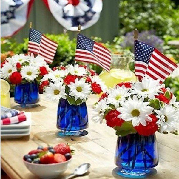 How to create a red, white and blue display for Fourth of July