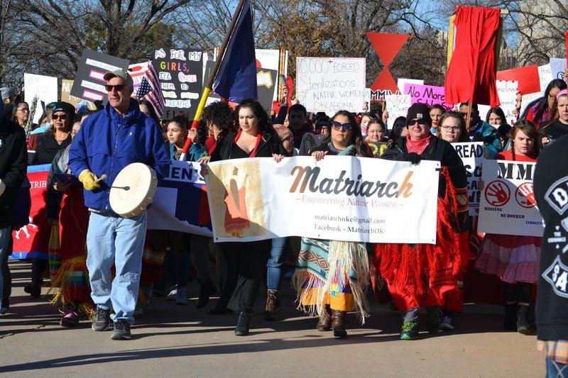 Indigenous Women Take Lead As Women S March Okc Casts Wider