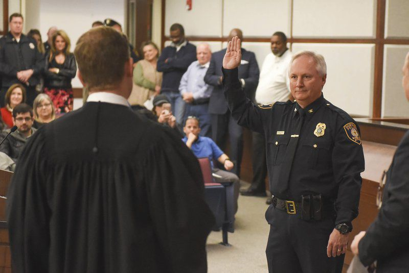 Norman Police Chief Foster officially sworn in at city hall