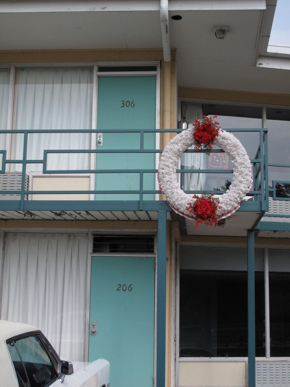 Balcony of Lorraine motel where Dr. King was assassinated