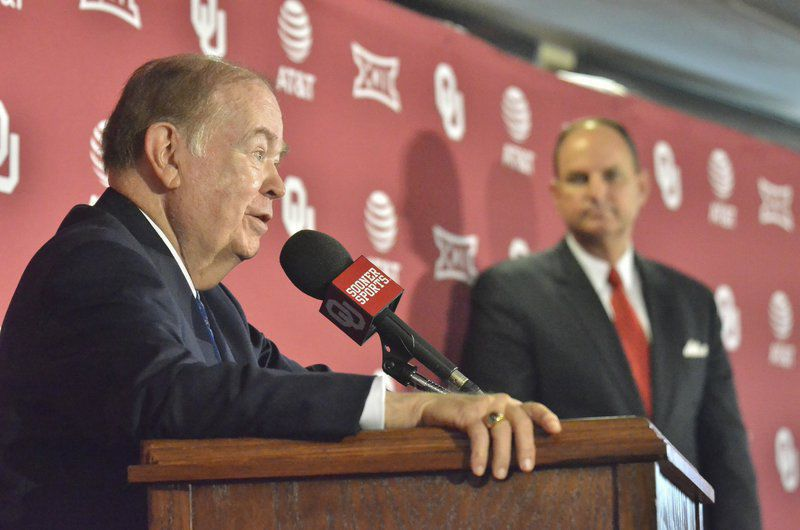 OU President David Boren announces his retirement
